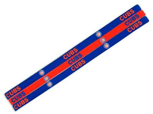 Chicago Cubs Elastic Headbands