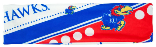 Kansas Jayhawks Stretch Patterned Headband