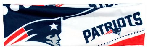 New England Patriots Stretch Patterned Headband