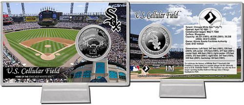 Chicago White Sox US Cellular Field Silver Plate Coin Card