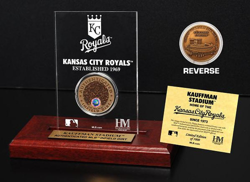 Kansas City Royals Kauffman Stadium Infield Dirt Coin Etched Acrylic
