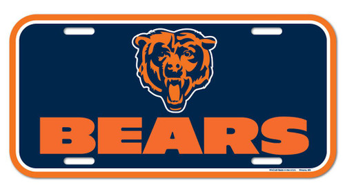 Chicago Bears License Plate