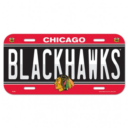 Chicago Blackhawks License Plate