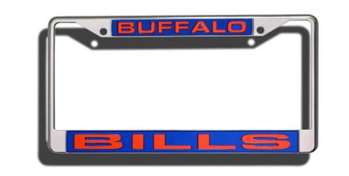 Buffalo Bills Laser Cut Chrome License Plate Frame