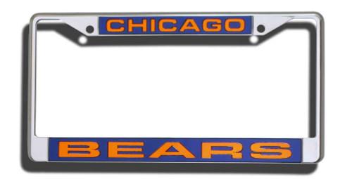 Chicago Bears Laser Cut Chrome License Plate Frame