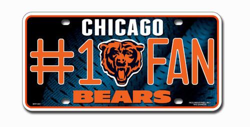 Chicago Bears License Plate - #1 Fan