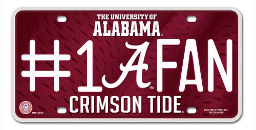 Alabama Crimson Tide License Plate - #1 Fan