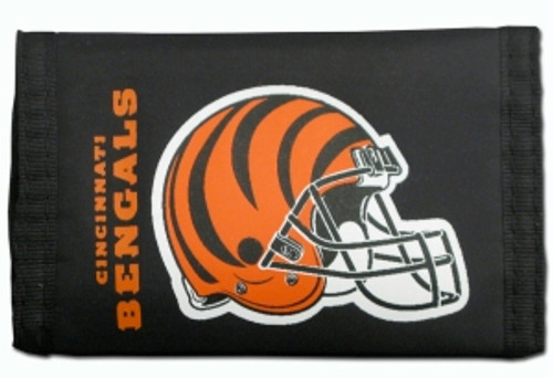 Cincinnati Bengals Nylon Trifold Wallet