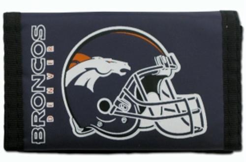 Denver Broncos Nylon Trifold Wallet