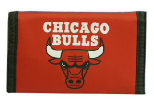 Chicago Bulls Nylon Trifold Wallet