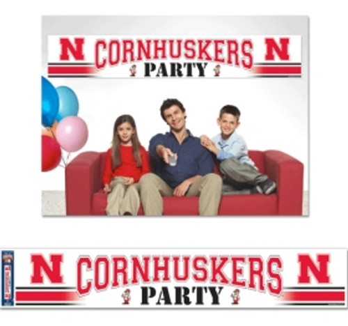 Nebraska Cornhuskers Banner Party