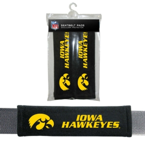 Iowa Hawkeyes Seat Belt Pads Velour
