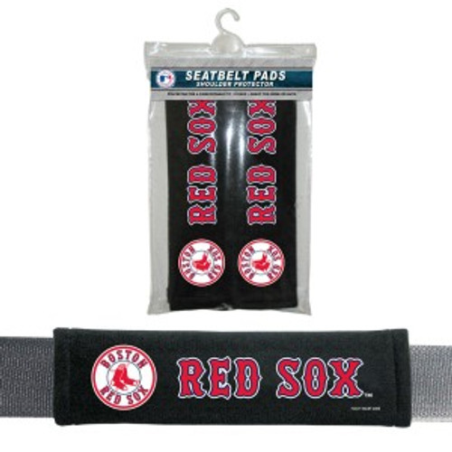 Boston Red Sox Velour Seat Belt Pads