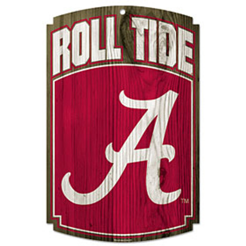 Alabama Crimson Tide Wood Sign