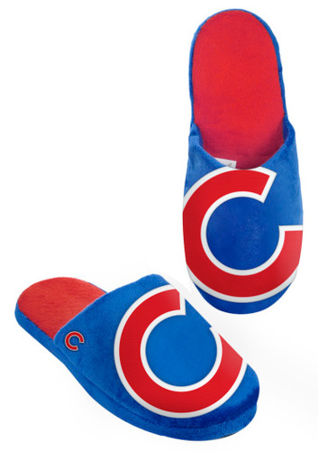 Chicago Cubs Slippers - Mens Big Logo