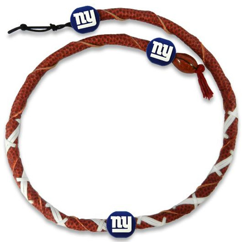 New York Giants Spiral Football Necklace