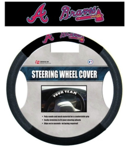 Atlanta Braves Steering Wheel Cover - Mesh