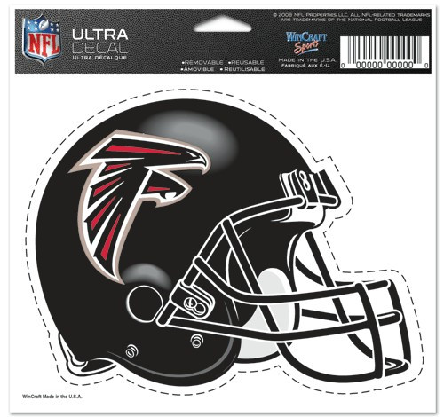 Atlanta Falcons Decal 5x6 Ultra Color Helmet
