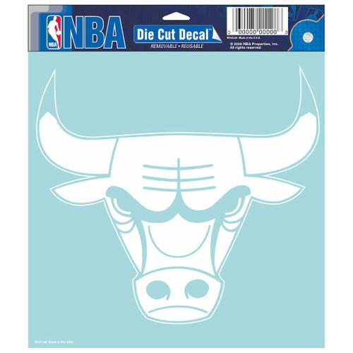 Chicago Bulls Decal 8x8 Die Cut White