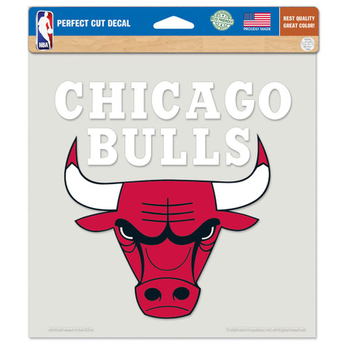 Chicago Bulls Decal 8x8 Die Cut Color