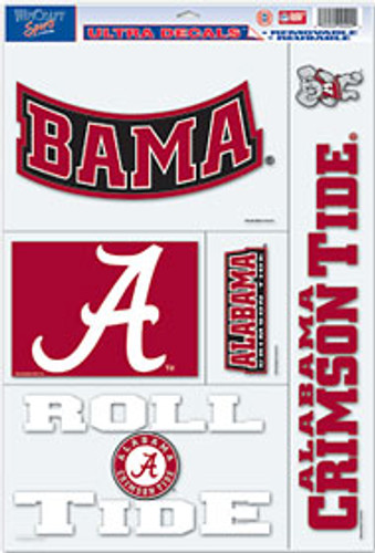Alabama Crimson Tide Decal 11x17 Ultra