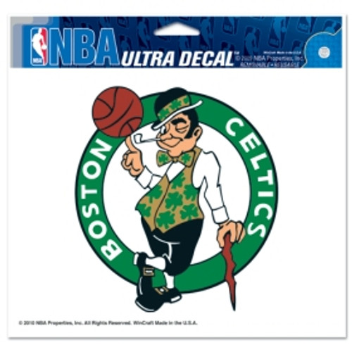 Boston Celtics Decal 5x6 Ultra Leprechan