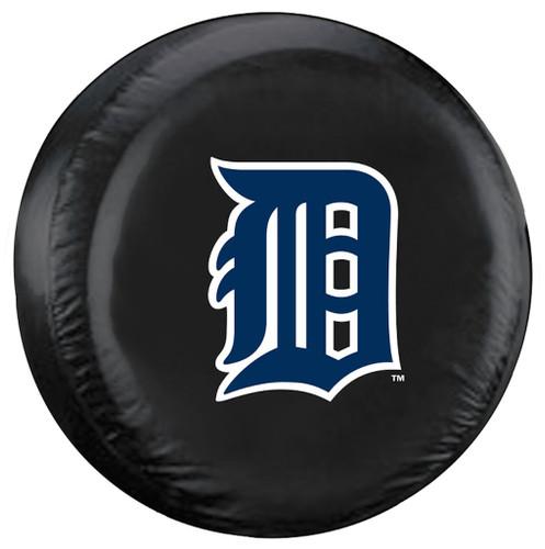Detroit Tigers Black Tire Cover - Standard Size
