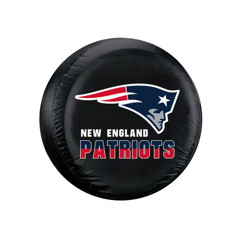 New England Patriots Black Tire Cover - Size Large