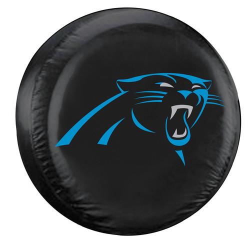 Carolina Panthers Black Tire Cover - Size Large