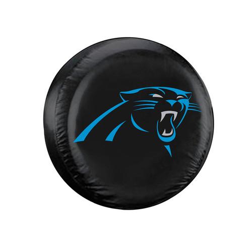 Carolina Panthers Black Tire Cover - Standard Size