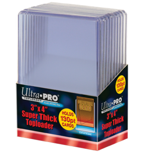 "Top Loader - 3""x4"" 130PT Clear (10 per pack)"