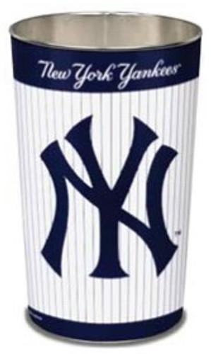 "New York Yankees 15"" Waste Basket - Pinstripes"