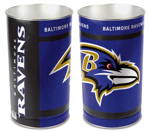 """Baltimore Ravens 15"""" Waste Basket"""