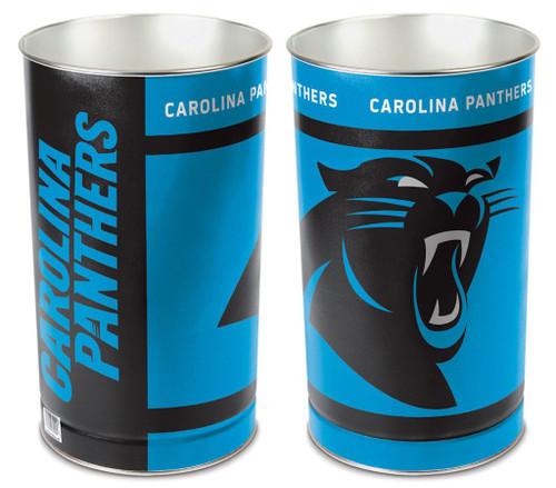 """Carolina Panthers 15"""" Waste Basket"""
