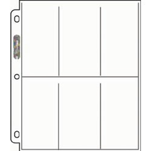 Ultra Pro 6-Pocket Pages - 206D (100ct)