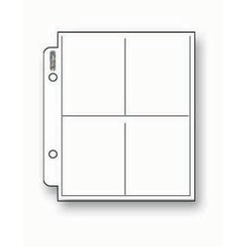 Ultra Pro Mini 4-Pocket Pages - 214D (100ct)