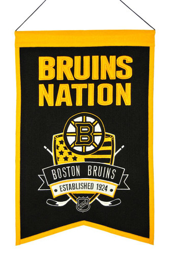 Boston Bruins Banner Wool Nations