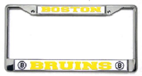 Boston Bruins Chrome License Plate Frame