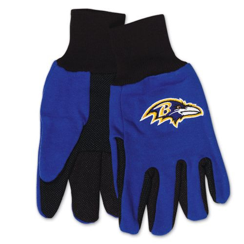 Baltimore Ravens Two Tone Adult Size Gloves