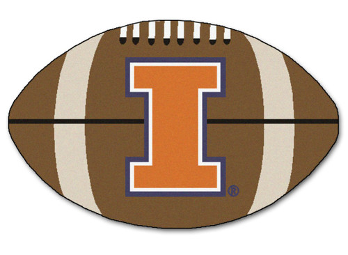 Illinois Fighting Illini Football Mat 22x35