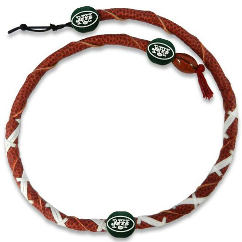New York Jets Spiral Football Necklace