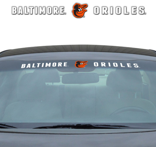 Baltimore Orioles Decal 35x4 Windshield
