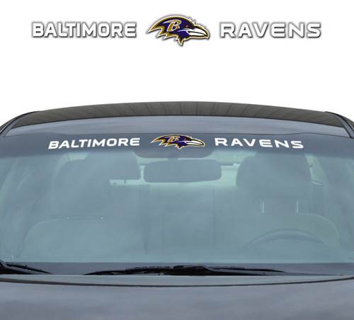 Baltimore Ravens Decal 35x4 Windshield