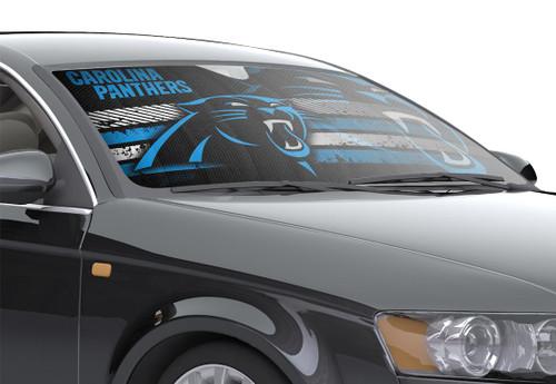 "Carolina Panthers Auto Sun Shade - 59""x27"""