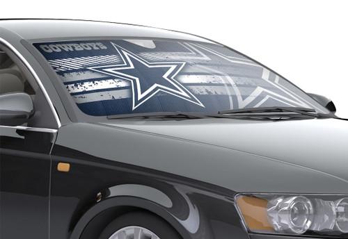 "Dallas Cowboys Auto Sun Shade - 59""x27"""