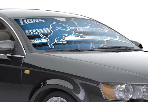 "Detroit Lions Auto Sun Shade - 59""x27"""