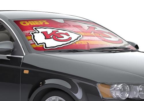 "Kansas City Chiefs Auto Sun Shade - 59""x27"""