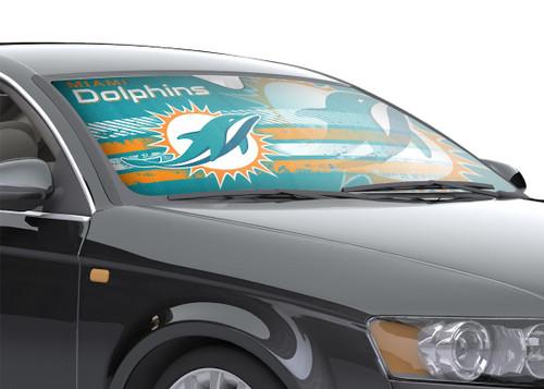 "Miami Dolphins Auto Sun Shade - 59""x27"""