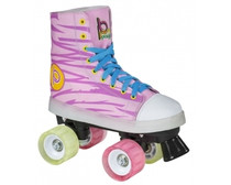 DESCRIPTION  The Funky Kids quad skates from Playlife are jam packed full of colors and lights. Explosive tie dye all-over print on the upper part of the skates and LED lights that run along the midsole.  The skate is designed with a cool retro sneaker look and has a high supportive boot. The frame is made from a light weight plastic material that in combination with wheels and bearings will ensure an easy time with this skate. Great for beginners.