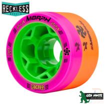 RECKLESS WHEELS (4) - MORPH 84a/88a - PINK/ORANGE